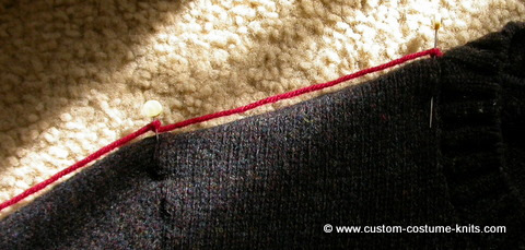how to measure a sweater