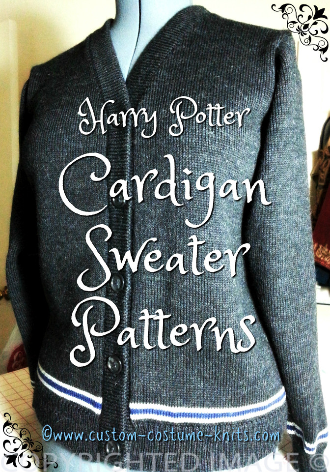 Harry Potter Cardigan Sweaters - Quick! Knit a Harry Potter cardigan sweater in time for Halloween. Our free knitting patterns come in several sizes for Misses from a Size 4 to a 44.