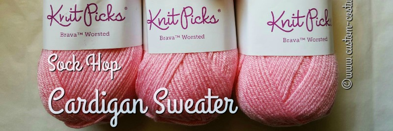 sock hop cardigan sweater - knitpicks-brava-cotton-candy