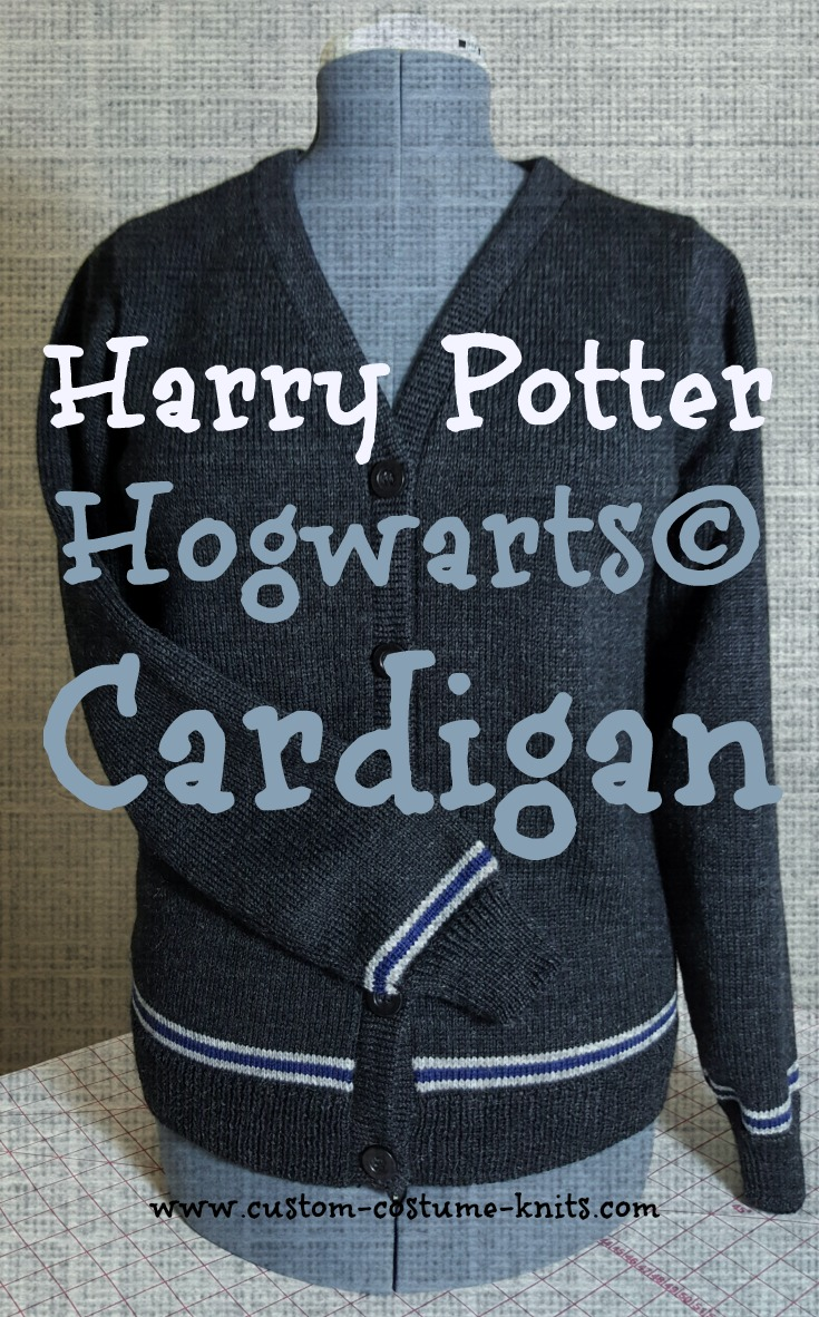 Harry Potter Cardigan Sweater - Quick! Knit a Harry Potter cardigan sweater in time for Halloween. Our free knitting patterns come in several sizes for Misses from a Size 4 to a 44.