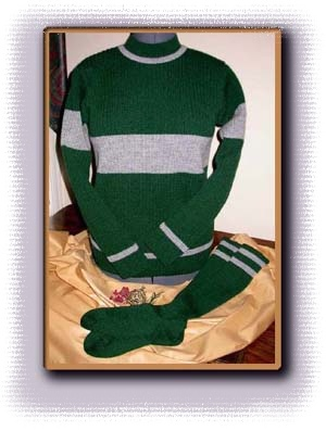 The Custom Costume Knits reproduction of a Harry Potter Quidditch Sweater