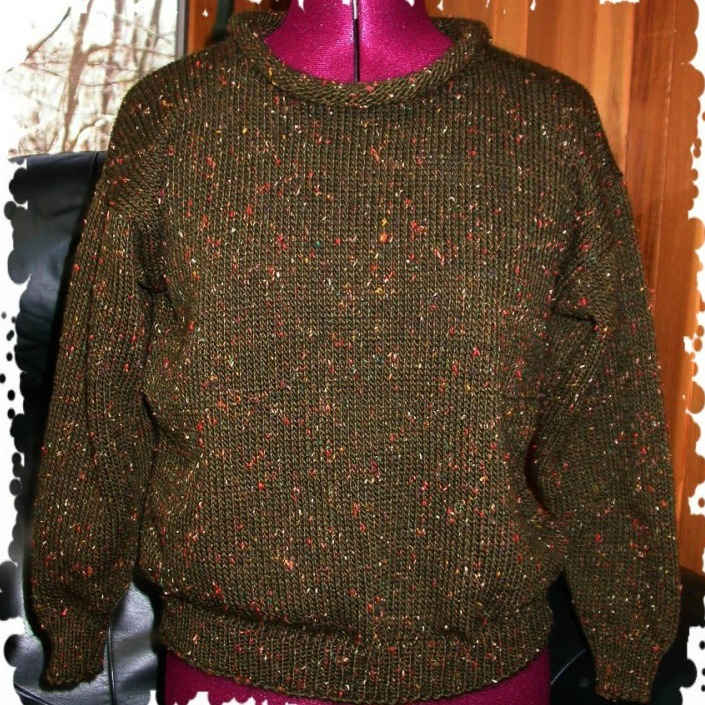 Initial Sweater With Rolled Neck