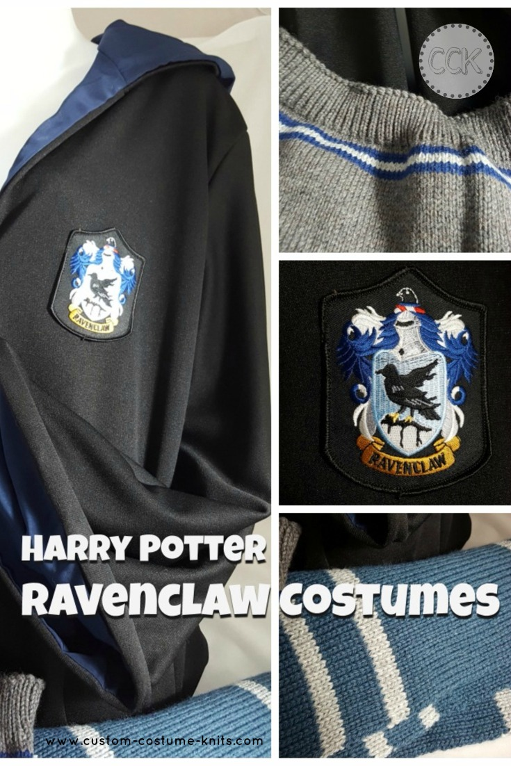 Harry Potter Ravenclaw costumes components: where to find top quality costume props from robes to sweaters.