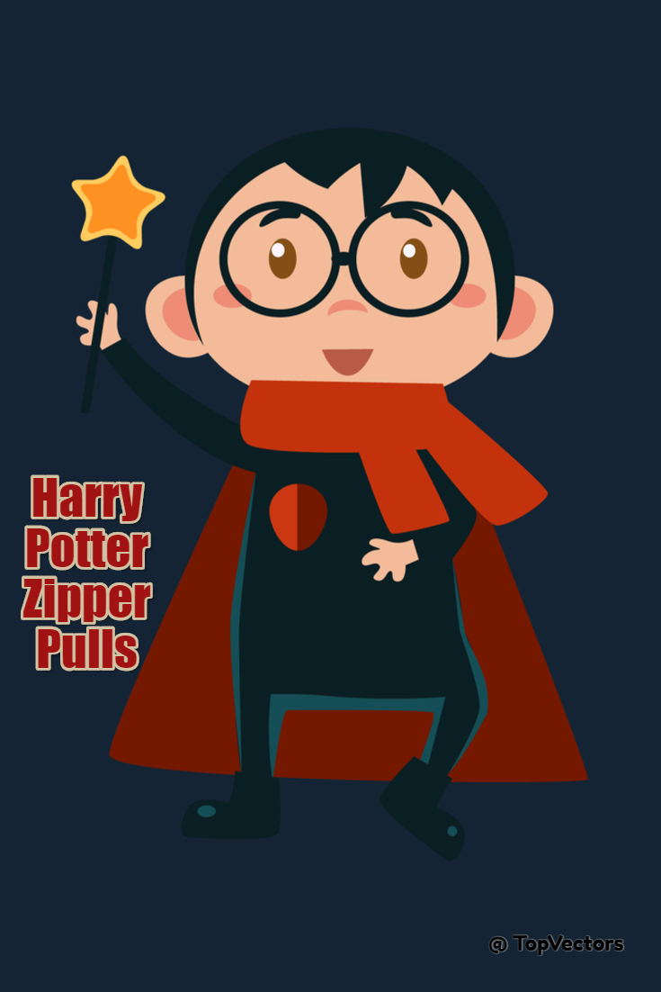 Harry Potter Zipper Pulls