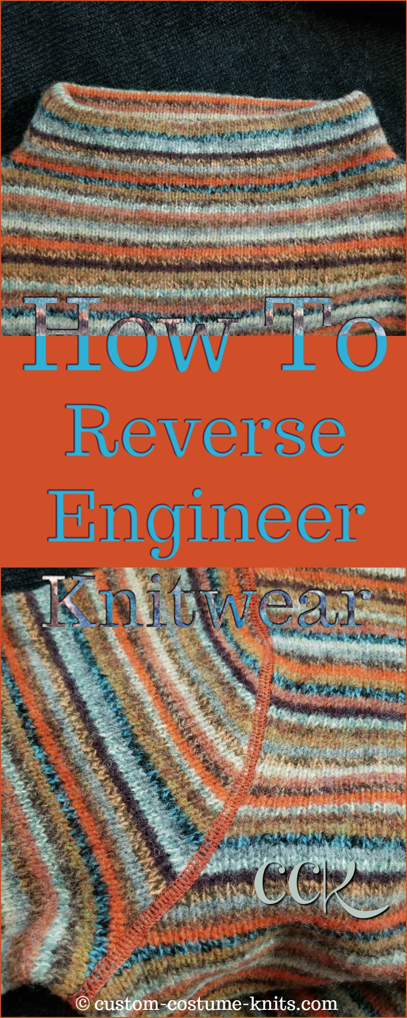 Reverse Engineer Knitwear - Image shows the neckline and the sleeve top-stitching detail in this How-To Tutorial