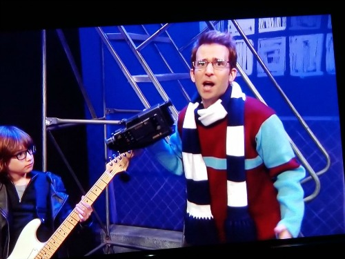 Mark Cohen sweater and scarf on SNL May 12, 2018